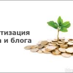 Монетизация сайта и блога